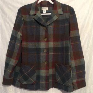 Pendleton Heritage Plaid Virgin wool blazer xl